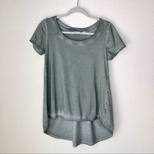 Anthropologie Tops - Postmark. Olive green tee with pleat back. Size XS
